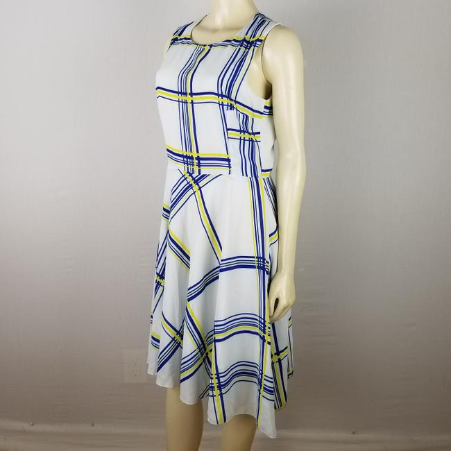 A.B.S. by Allen Schwartz short dress white, blue and yellow Summer Sleeveless M on Tradesy Image 2