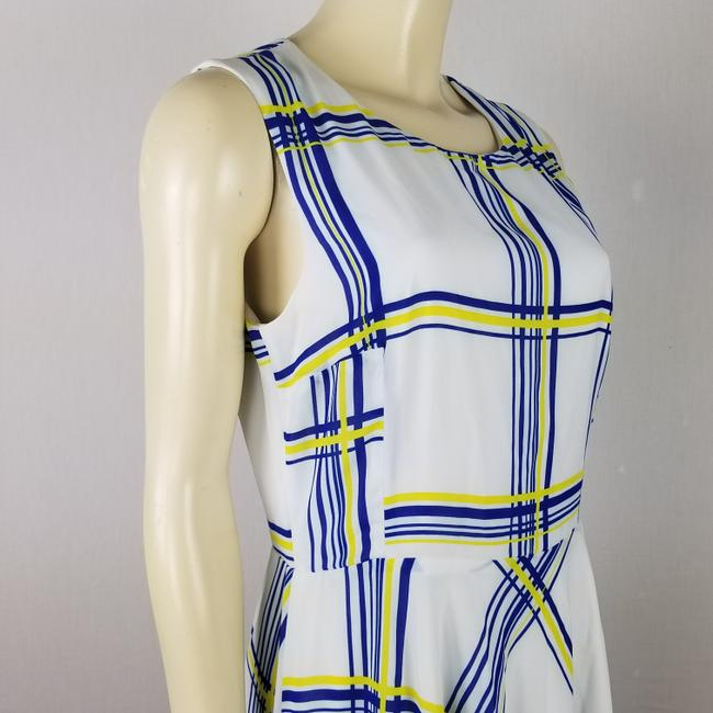 A.B.S. by Allen Schwartz short dress white, blue and yellow Summer Sleeveless M on Tradesy Image 3