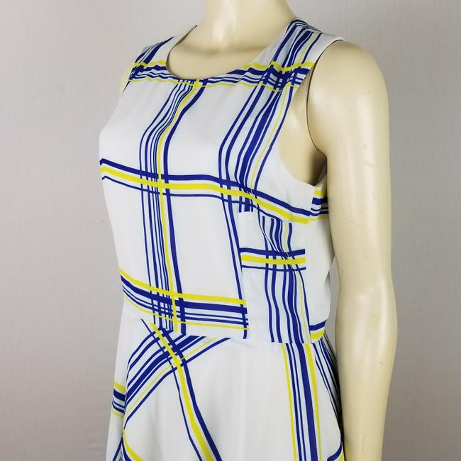A.B.S. by Allen Schwartz short dress white, blue and yellow Summer Sleeveless M on Tradesy Image 4