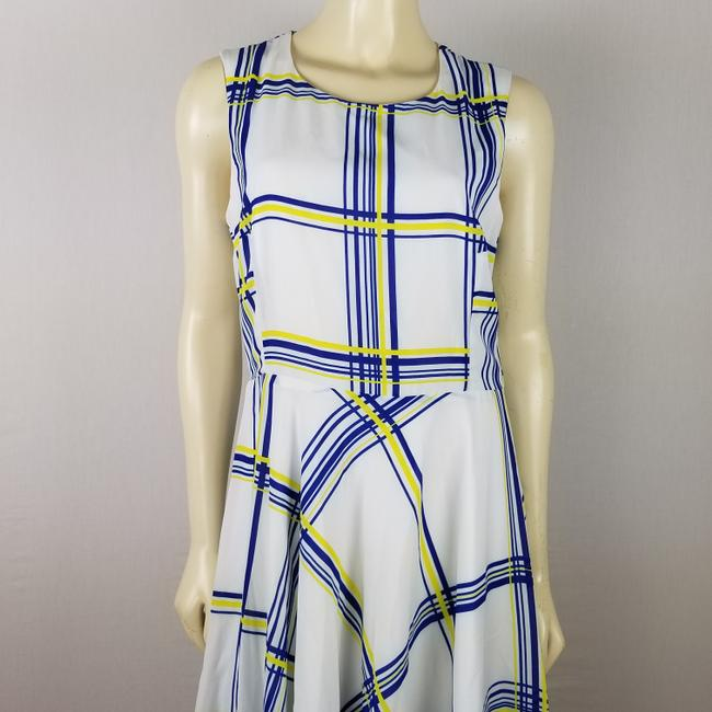 A.B.S. by Allen Schwartz short dress white, blue and yellow Summer Sleeveless M on Tradesy Image 5