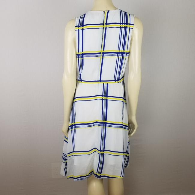 A.B.S. by Allen Schwartz short dress white, blue and yellow Summer Sleeveless M on Tradesy Image 7