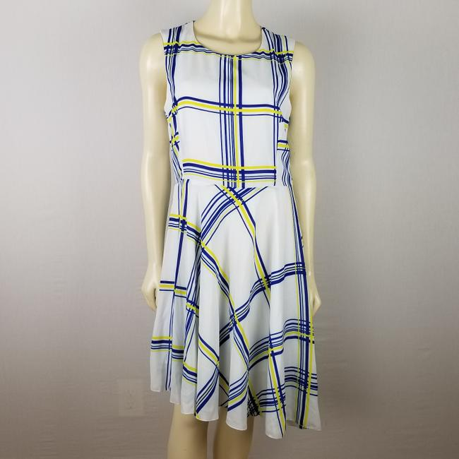 A.B.S. by Allen Schwartz short dress white, blue and yellow Summer Sleeveless M on Tradesy Image 8