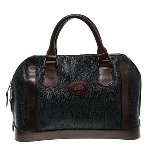 Mulberry Vintage Leather Satchel in Black Brown 3456dd69bc474