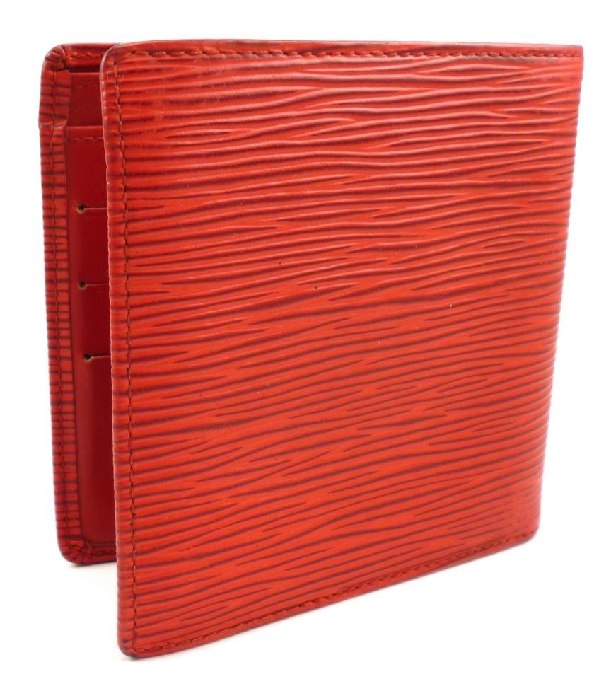 419654d1 Louis Vuitton Red Marco Wallet Epi Leather Lv Bifold Men's  Jewelry/Accessory 33% off retail