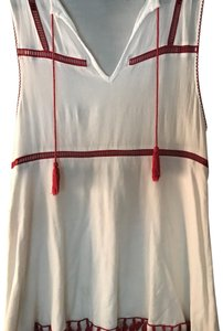 Tobi short dress white and red on Tradesy