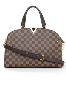 Louis Vuitton Damier Monogram Satchel in brown