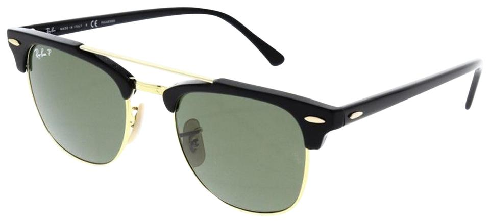 Ray-Ban Ray Ban Unisex Sunglasses RB3816 901 58 Black Gold Frame Green ... b306068229dd