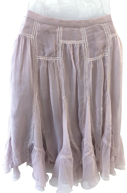 Item - Pink Special Edition and White Striped Tiered Silk Skirt Size 2 (XS, 26)
