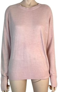 Marks & Spencer Crew Neck Long Sleeve Soft Buttons Thin Knit Sweater