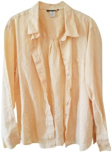 Isabella Bird Button Down Shirt peach