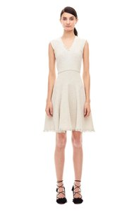 Rebecca Taylor Tweed Stretch Fit And Flare Sleeveless Dress