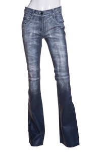 Jitrois Boot Cut Pants Blue & White