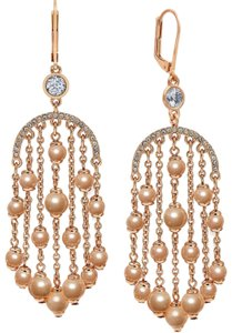"""Kate Spade KATE SPADE """"Pearls of Wisdom"""" Rose Gold Plated Faux Pearls Chandelier"""