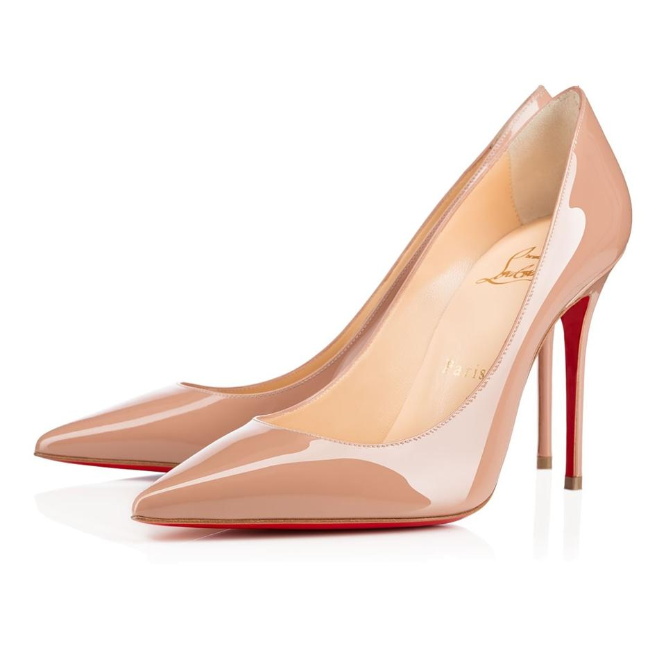 2400bbaedc00 Christian Louboutin Nude Classic Decoltish 100mm Patent Nacre Leather Point-toe  Pumps. Size  EU 35 (Approx.