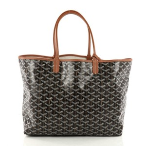 Goyard St. Louis Tote in black, brown, and white