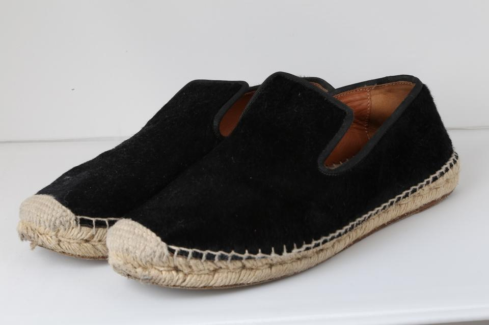 75e24579777 Céline Black Pony Hair Espadrille Loafers Flats Size US 7 Regular (M ...