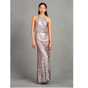 Donna Morgan Grey Ridge (Grey/Lilac) Sequin Tiffany Feminine Bridesmaid/Mob Dress Size 8 (M)