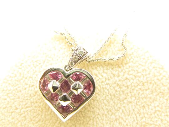 TYCOON TYCOON JEWELRY 18K GOLD PENDANT NECKLACE WITH DIAMONDS & PINK SAPPHIRE Image 10