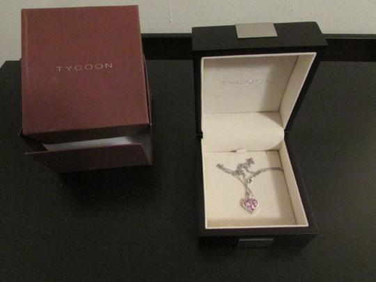 TYCOON TYCOON JEWELRY 18K GOLD PENDANT NECKLACE WITH DIAMONDS & PINK SAPPHIRE Image 3