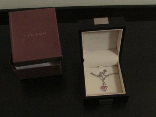 TYCOON TYCOON JEWELRY 18K GOLD PENDANT NECKLACE WITH DIAMONDS & PINK SAPPHIRE Image 4