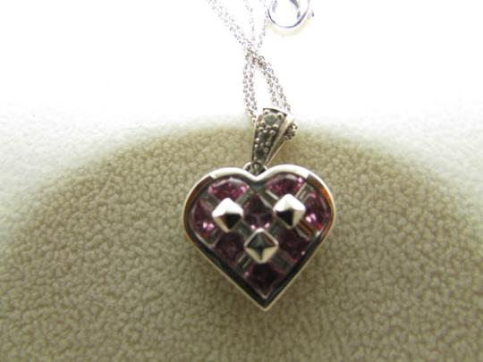 TYCOON TYCOON JEWELRY 18K GOLD PENDANT NECKLACE WITH DIAMONDS & PINK SAPPHIRE Image 5