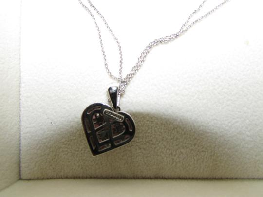 TYCOON TYCOON JEWELRY 18K GOLD PENDANT NECKLACE WITH DIAMONDS & PINK SAPPHIRE Image 6