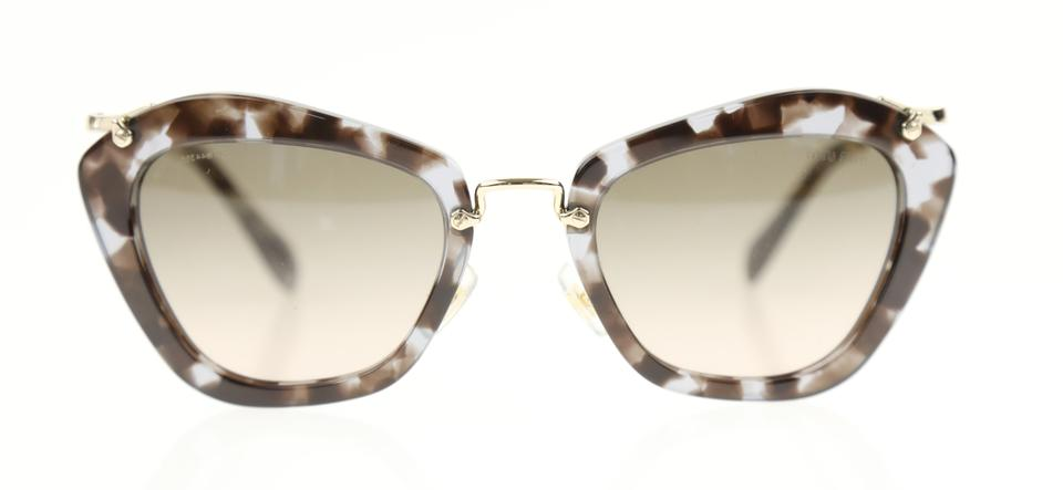 31883db2008 Miu Miu Gold Cat Eye Sunglasses - Tradesy
