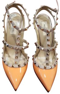 Valentino Rockstud Wedding Party Orange Pumps
