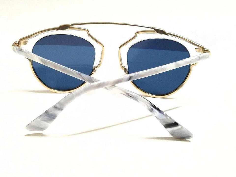 6430029604ff Dior Christian Dior SO REAL 1TL 90 Crystal Gold White Marble Silver Blue  Image. 12345678
