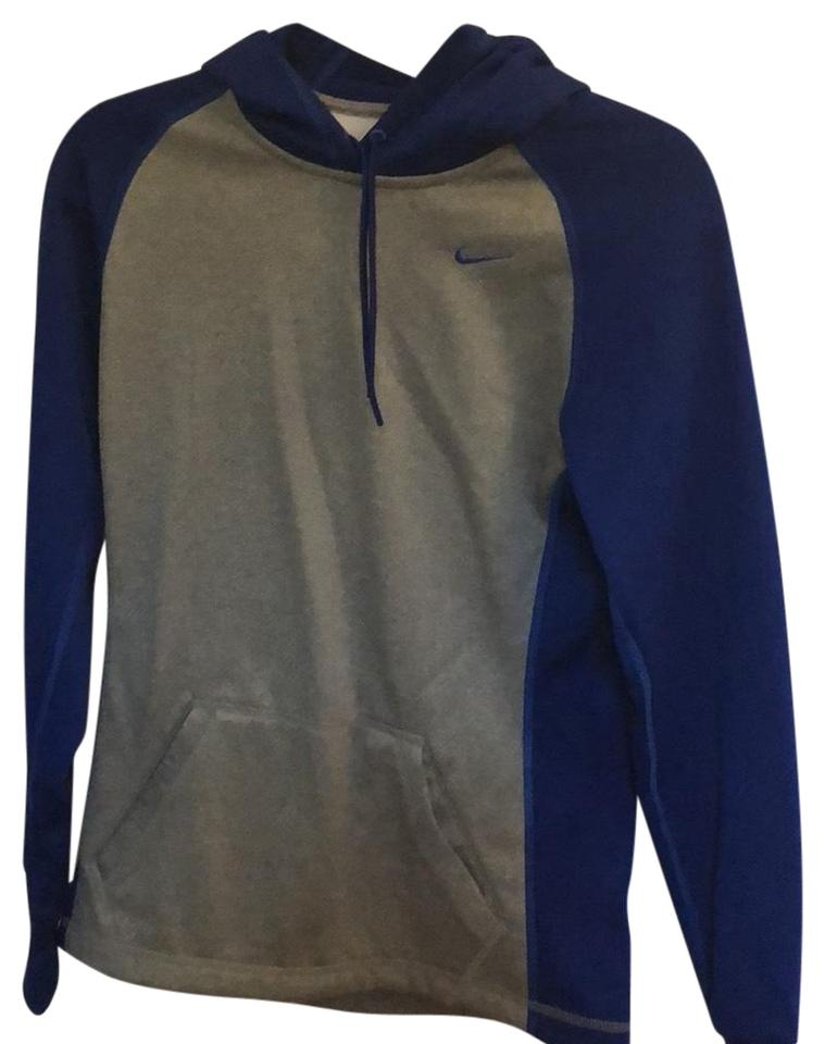6687f02b43ed Nike Blue and Grey Pullover Sweatshirt Hoodie Size 2 (XS) - Tradesy