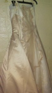 David's Bridal Champagne&vory Polyester 5339 Casual Wedding Dress Size 18 (XL, Plus 0x)