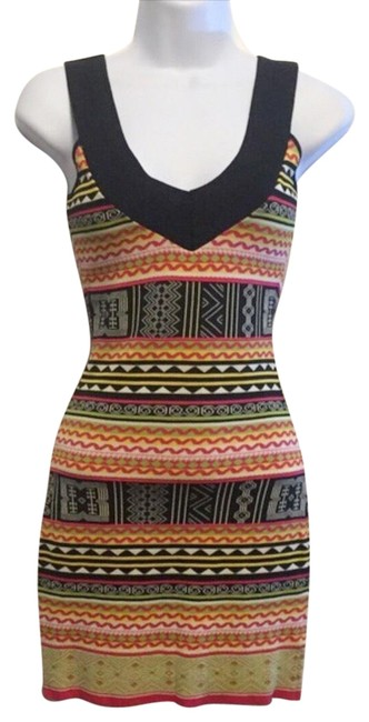 Item - Bold Striped Body Con Short Night Out Dress Size 2 (XS)