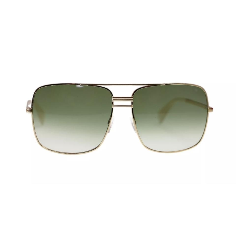 39cc2c063a97 Céline NEW Celine CL 41808 S Gold Green Oversized Square Aviator Sunglasses  Image 0 ...