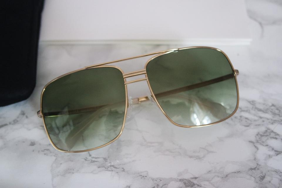 c41a60e01790 Céline Green New Cl 41808 S Gold Oversized Square Aviator Sunglasses ...