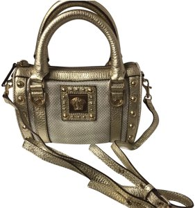Versace Satchel in gold and silver