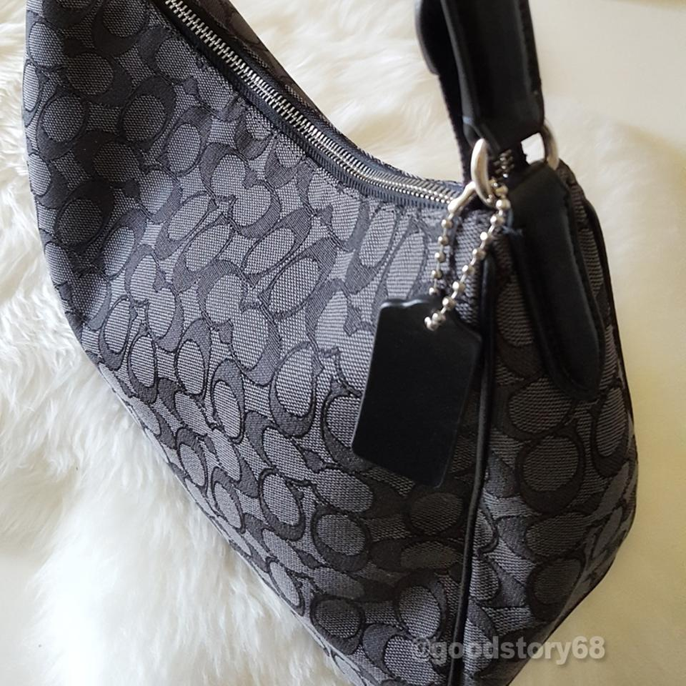 Coach F29959 Signature Jacquard Black Smoke Shoulder Bag - Tradesy 04998ae7b7ab4