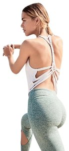 Free People Scoop Neck Cool + Comfy Soft + Versatile Fun To Layer Braided Straps Top White