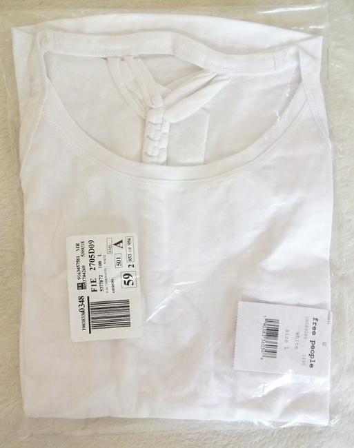 Free People Scoop Neck Cool + Comfy Soft + Versatile Fun To Layer Braided Straps Top White Image 8
