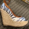 Sergio Rossi Blue and Ivory Wedges Image 6