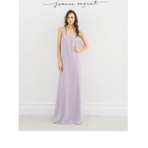Joanna August Moondance (Light Lilac) Chiffon Kristina Long Casual Bridesmaid/Mob Dress Size 12 (L)