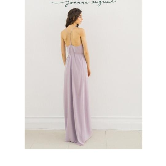 Joanna August Moondance (Light Lilac) Chiffon Kristina Long Casual Bridesmaid/Mob Dress Size 12 (L) Image 1