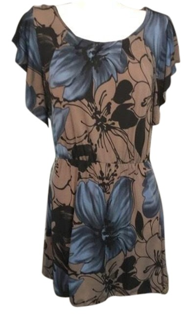 Item - Black and Blue Cute Summer Mid-length Short Casual Dress Size 10 (M)