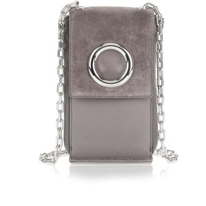 Alexander Wang 7027R0043L RIOT SHOULDER WALLET WITH RHODIUM