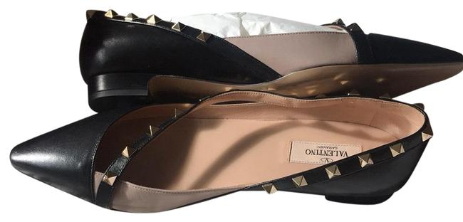 Item - Black/Tan/Gold Rockstud Flats Size EU 39 (Approx. US 9) Regular (M, B)
