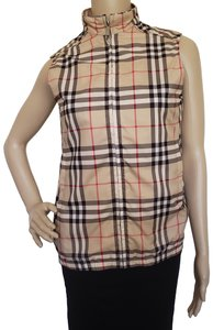 Burberry Sleeveless Nova Check House Check Monogram Logo Vest