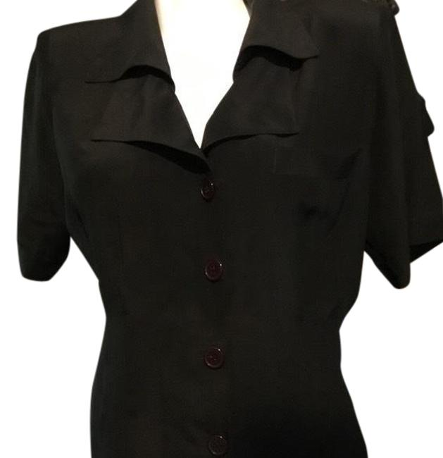 Preload https://img-static.tradesy.com/item/23667823/black-double-collar-blouse-button-down-top-size-8-m-0-1-650-650.jpg