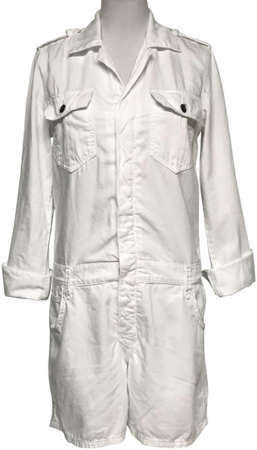 Item - White Coveralls Romper/Jumpsuit
