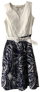 Banana Republic short dress White and blue Summer Spring on Tradesy