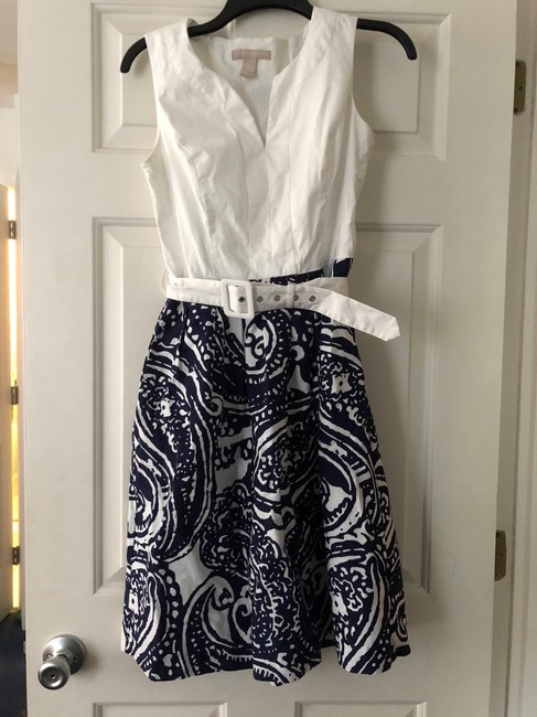 Banana Republic short dress White and blue Summer Spring on Tradesy Image 2