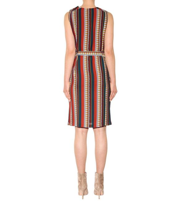 Tory Burch Silk Belted Print Sleeveless Bold Stripe Dress Image 5